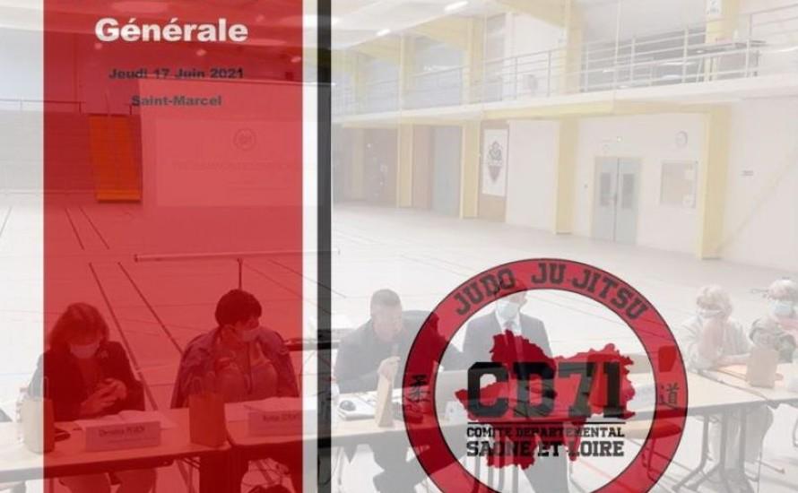 L'ASSEMBLEE GENERALE DU CD71 judo, Le 17 Juin 2021 !!